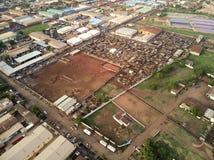 Воздушный взгляд трутня niarela Quizambougou Нигера Бамака Мали Стоковое Изображение
