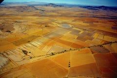 воздушный взгляд фермы Стоковая Фотография