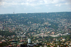 воздушный взгляд budapest Стоковые Изображения RF