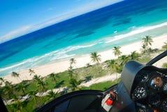 воздушный взгляд caribbean пляжа Стоковое Изображение