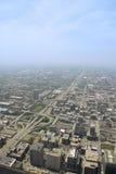 воздушный взгляд chicago городской Стоковое Фото