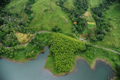 воздушный взгляд Costa Rica Стоковые Изображения RF