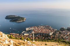 воздушный взгляд dubrovnik стоковые изображения rf