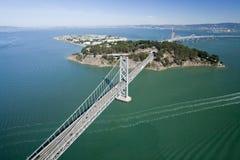 воздушный взгляд francisco san моста залива Стоковое Изображение RF