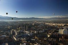 воздушный взгляд granada города Стоковые Изображения