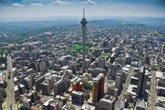 воздушный взгляд johannesburg cbd стоковое изображение rf