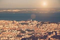 воздушный взгляд lisbon стоковые фотографии rf