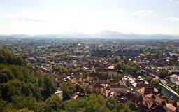 воздушный взгляд ljubljana Стоковые Фото