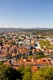 воздушный взгляд ljubljana Стоковые Изображения