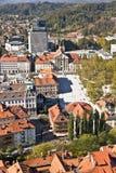 воздушный взгляд ljubljana Стоковое Фото