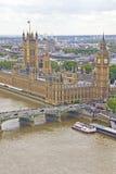 воздушный взгляд london города Стоковая Фотография