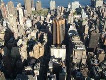 воздушный взгляд newyork города стоковое фото rf