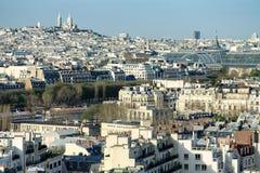 воздушный взгляд paris Стоковое Изображение RF