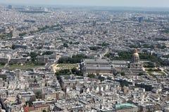 воздушный взгляд paris Стоковое Изображение