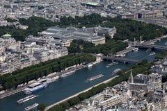воздушный взгляд paris Стоковые Фотографии RF