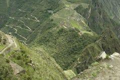 воздушный взгляд picchu machu стоковое изображение