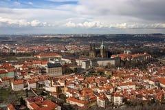 воздушный взгляд prague замока Стоковое Изображение RF