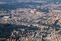 воздушный взгляд rome Стоковые Фотографии RF