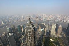 воздушный взгляд shanghai Стоковые Изображения RF