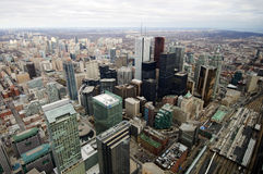 воздушный взгляд toronto горизонта Стоковое фото RF