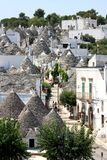воздушный взгляд trulli Италии alberobello Стоковое фото RF