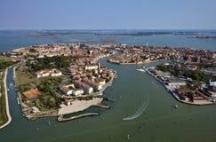 воздушный взгляд venice murano Италии острова Стоковая Фотография RF