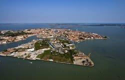 воздушный взгляд venice murano Италии острова Стоковые Изображения