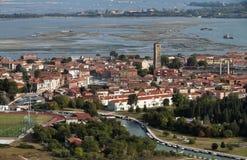 воздушный взгляд venice murano Италии острова Стоковая Фотография