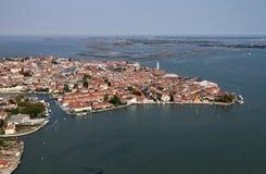 воздушный взгляд venice murano Италии острова Стоковые Фото