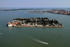 воздушный взгляд venice murano Италии острова Стоковое Изображение