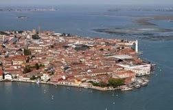 воздушный взгляд venice murano Италии острова Стоковое фото RF