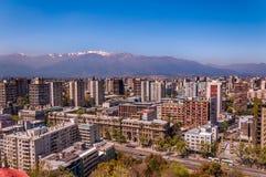 Воздушный вид на город Сантьяго Чили стоковая фотография rf