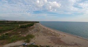 Воздушный вид на море - сцена природы стоковое фото rf