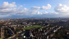 Воздушный городской взгляд города Лондона Стоковые Изображения