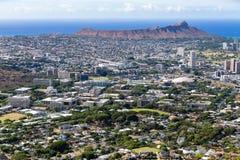 Воздушный городской пейзаж Гонолулу, Оаху, США Стоковое Изображение RF