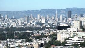 Воздушный городской пейзаж Сан-Франциско от парка Grandview видеоматериал