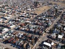 воздушный город сельский Стоковые Фотографии RF