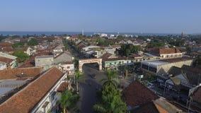 Воздушный город Ampenan взгляда трутня в Lombok акции видеоматериалы