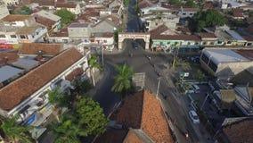 Воздушный город Ampenan трутня сток-видео