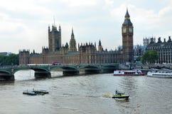 воздушный город london над взглядом Стоковые Изображения RF