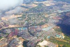 воздушный город non урбанский стоковое фото rf