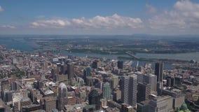 Воздушный день 4K Канады Монреаля июля 2017 солнечный воодушевляет 2 акции видеоматериалы