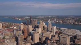 Воздушный день 4K Мичигана Детройта июля 2017 солнечный воодушевляет 2 акции видеоматериалы