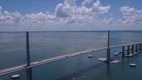 Воздушный день 4K Флориды Тампа июля 2017 солнечный воодушевляет 2 сток-видео