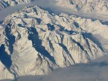 воздушный $$етМоунтаин $$етВиеш Гренландии Стоковое Изображение