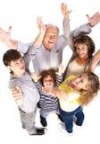 воздушный жизнерадостный взгляд семьи стоковые фотографии rf