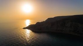 Воздушный залив Pissouri, Лимасол, Кипр Стоковая Фотография