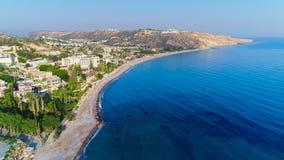 Воздушный залив Pissouri, Лимасол, Кипр Стоковые Изображения RF