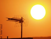 воздушный заход солнца Стоковые Изображения