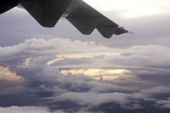 воздушный заход солнца Стоковая Фотография
